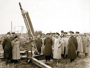 Испытание 2,5-дюймовой пушки на заводском полигоне 1911г.